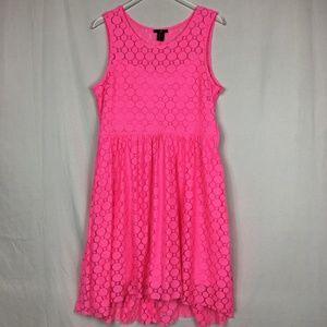 H&M Neon Pink Hi-Lo Dress